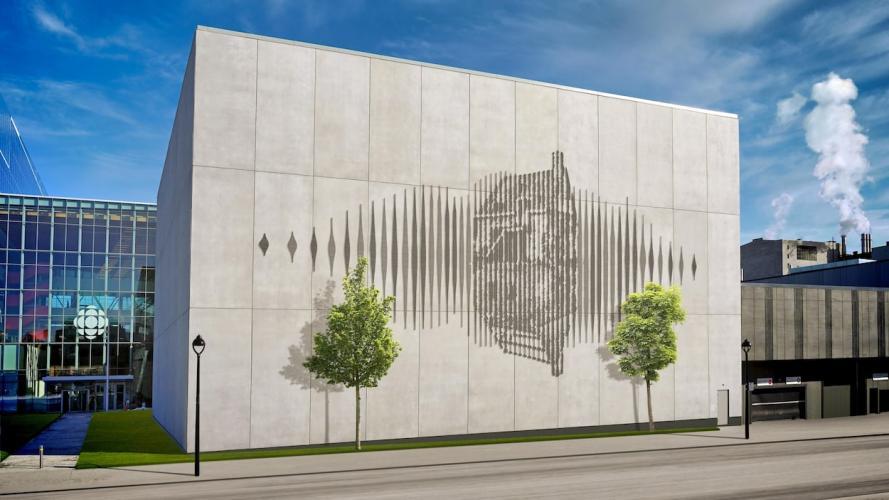 Une œuvre en hommage au quartier des Faubourgs sur la nouvelle Maison Radio-Canada