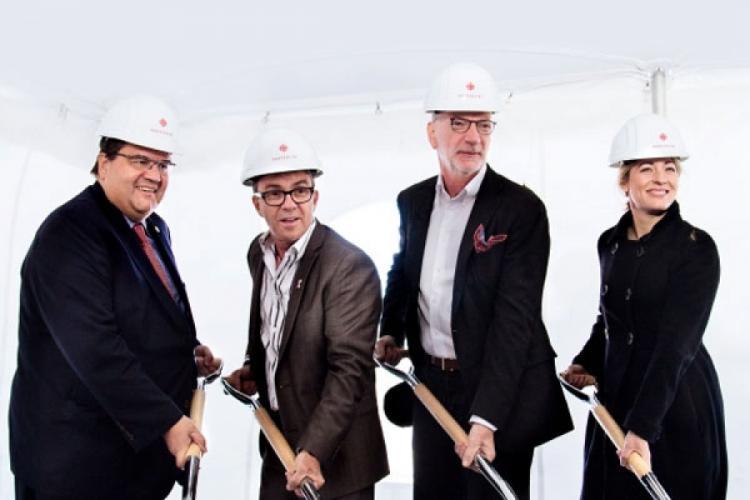 Première pelletée de terre pour la nouvelle Maison de Radio-Canada