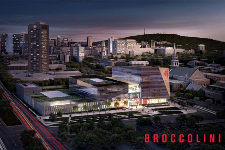 Radio-Canada retient la proposition du groupe Broccolini pour construire ses nouvelles installations